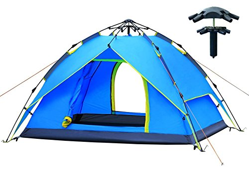 2-3 Person Camping Tent Easy Set Up//Fold Light Weight Outdoor Hiking Waterproof